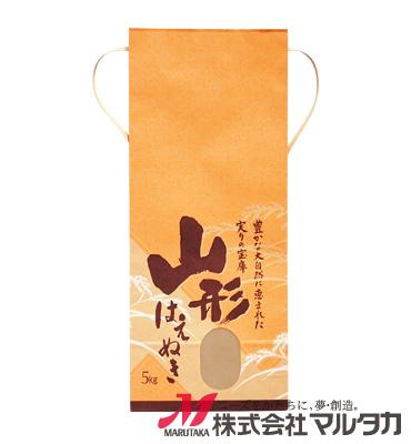 紐付クラフト米袋 KH-0001 山形産はえぬき 稲扇(いねおうぎ) 5kg