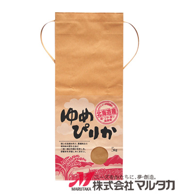 紐付クラフト米袋 KH-0004 北海道産ゆめぴりか 美空(みそら) 5kg