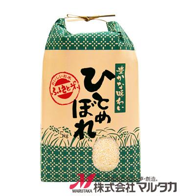 紐付クラフト米袋 KH-0006 ひとめぼれ 穂の便り 5kg
