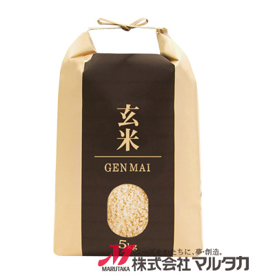 紐付クラフト米袋 KH-0009 玄米 匠技(たくみわざ)(銘柄なし) 5kg