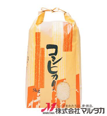 紐付クラフト米袋 KH-0110 コシヒカリ しぐれ 5kg
