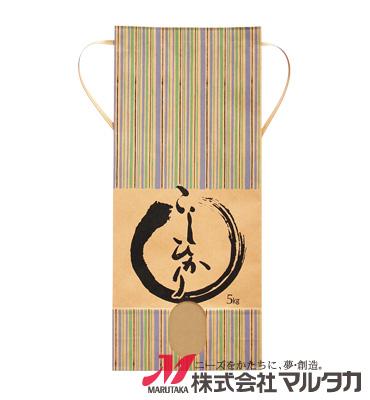 紐付クラフト米袋 KH-0180 こしひかり 青波 5kg