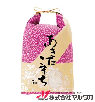 紐付クラフト米袋 KH-0330 あきたこまち 結衣(ゆい) 5kg