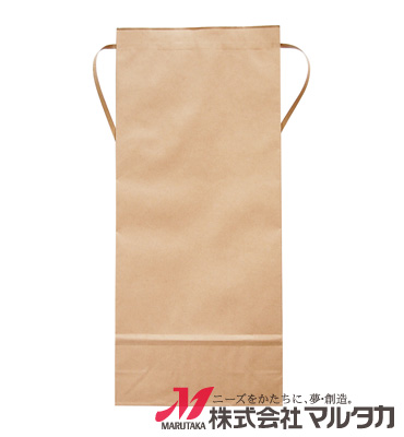 紐付クラフト米袋 無地 窓なし KH-0800 5kg