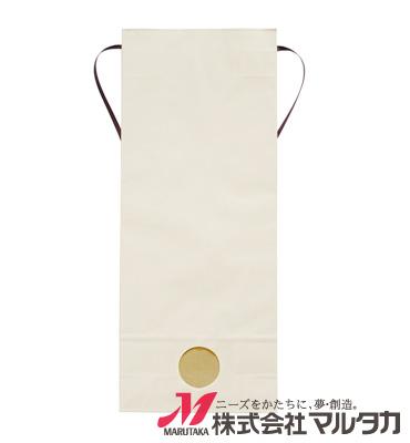紐付カラークラフト米袋 KH-0860 くぬぎ(無地) 5kg