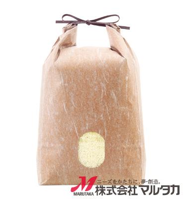 紐付雲龍和紙米袋 KH-0890 おぐら(無地) 5kg
