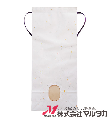 紐付雲龍和紙米袋 KH-0910 金銀(無地) 5kg