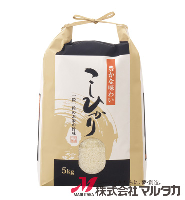 紐付クラフトSP米袋 保湿タイプ KHP-004 こしひかり 円楽 5kg