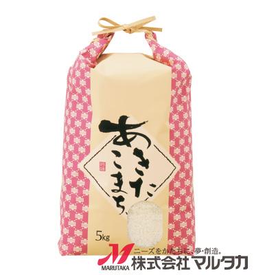 紐付クラフトSP米袋 保湿タイプ KHP-120 あきたこまち 米文様(こめもんよう) 5kg