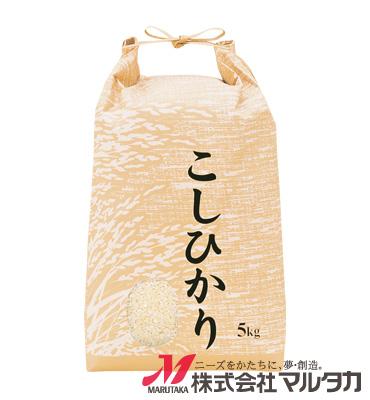 紐付クラフトSP米袋 保湿タイプ KHP-160 こしひかり 稲つむぎ 5kg