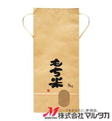 紐付クラフト米袋 保湿タイプ KHP-400 田舎だより(銘柄なし) 5kg