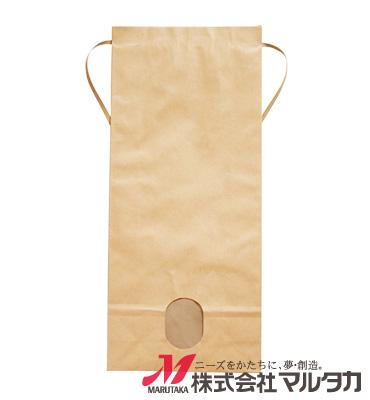 紐付クラフトSP米袋 保湿タイプ 無地 窓付 KHP-830 5kg